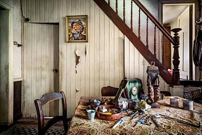 Deserted Room In Abandoned House -urben Exploration Poster by Dirk Ercken