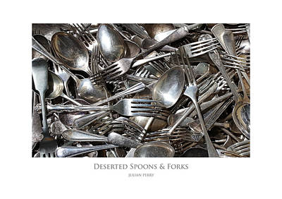 Poster featuring the digital art Deserted Spoons And Forkes by Julian Perry