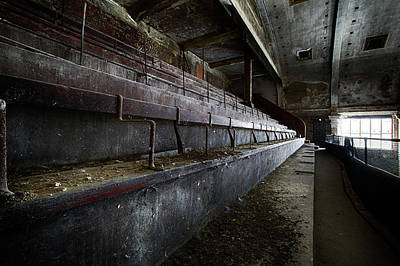Poster featuring the photograph Deserted Theatre Steps - Urban Exploration by Dirk Ercken