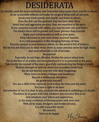Desiderata Vintage Poster by Dan Sproul