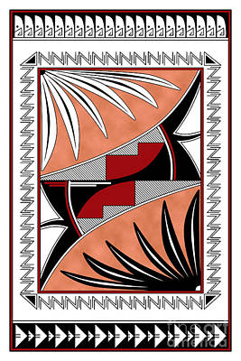 Southwest Collection - Design Three In Red Poster by Tim Hightower