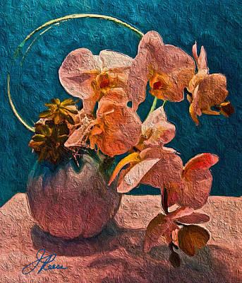 Designer Floral Arrangement Poster by Joan Reese