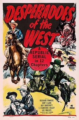 Desperadoes Of The West 1950 Poster by Mountain Dreams