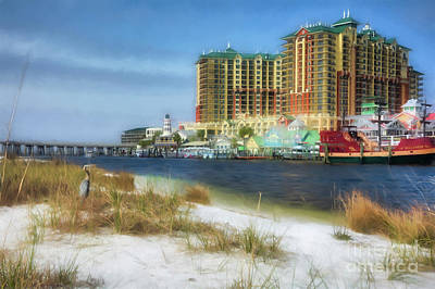 Poster featuring the photograph Destin Harbor # 2 by Mel Steinhauer