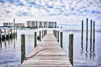 Poster featuring the photograph Destin Harbor Marina # 2 by Mel Steinhauer