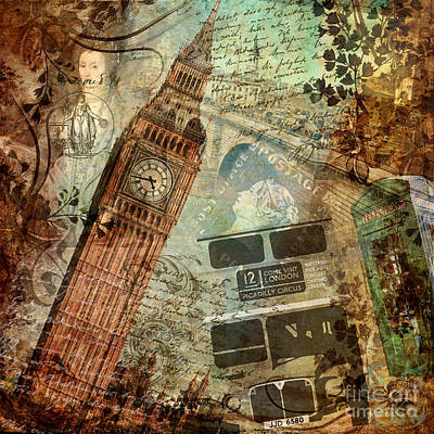 Destination London Poster by Mindy Sommers