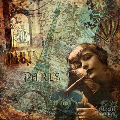 Destination Paris Poster by Mindy Sommers