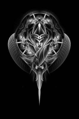 Destiny's Vision Fractal Fantasy Portrait Poster by Xzendor7