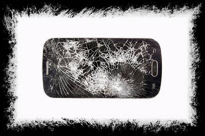 Destroyed Cell Phone Poster by Pablo Rodriguez Merkel