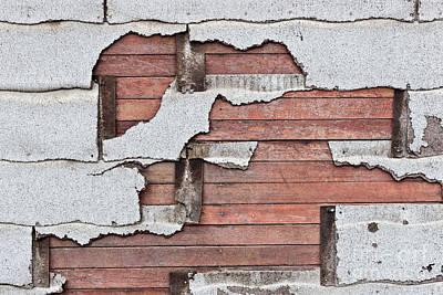 Deteriorating Asbestos Shingles Poster by Inga Spence
