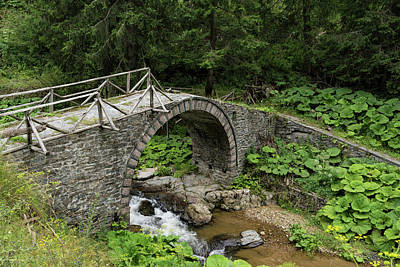 Deteriorating Slowly - The Elegant Arch Of An Ancient Stone Bridge Poster