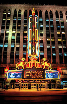 Detroit Fox Theatre Marquee Poster