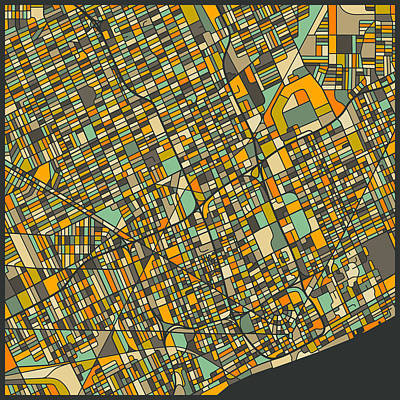 Detroit Map Poster by Jazzberry Blue