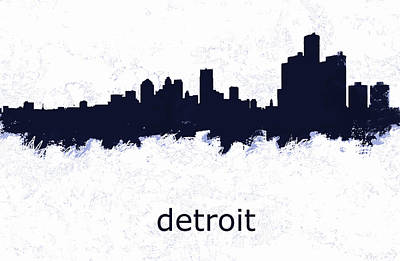 Detroit Michigan Skyline D  Poster by Enki Art