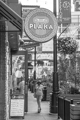 Detroit Plaka In Black And White  Poster by John McGraw