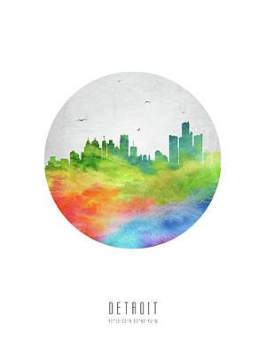 Detroit Skyline Usmide20 Poster