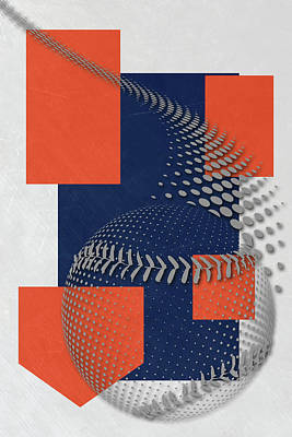 Detroit Tigers Art Poster by Joe Hamilton