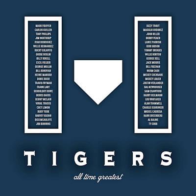 Detroit Tigers Art - Mlb Baseball Wall Print Poster by Damon Gray