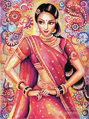 Poster featuring the painting Devika Dance by Eva Campbell