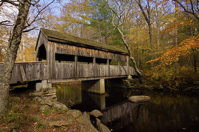 Poster featuring the photograph Devil's Hopyard Covered Bridge by Kirkodd Photography Of New England