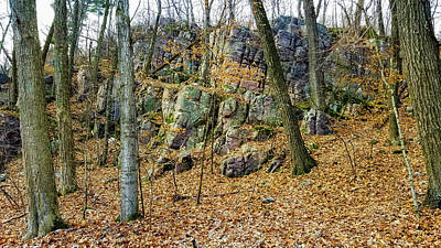 Poster featuring the photograph Devils Lake Rock Formation  by Ricky L Jones