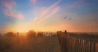 Dewey Sunrise 1 Poster by Lori Deiter
