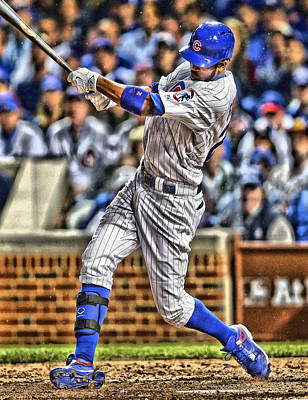 Dexter Fowler Chicago Cubs Poster by Joe Hamilton