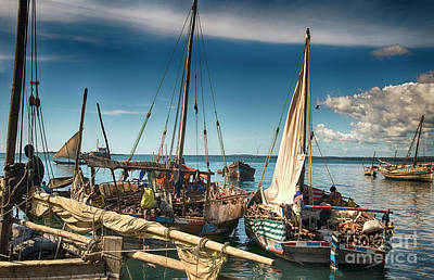 Dhow Sailing Boat Poster
