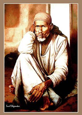 Dhyani Sai Poster by Saibaba Shirdi