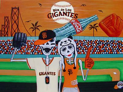 Dia De Los Gigantes Poster by Evangelina Portillo