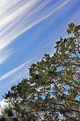 Diagonal Clouds Poster
