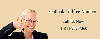 Dial Outlook Toll Free Helpline Number  Poster