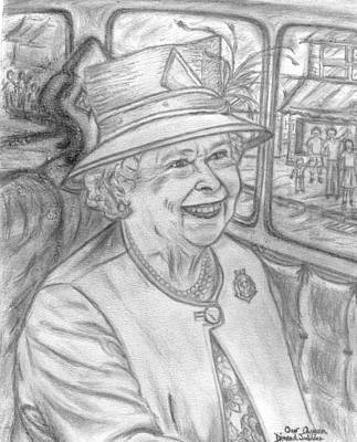 Poster featuring the drawing Diamond Jubilee by Teresa White