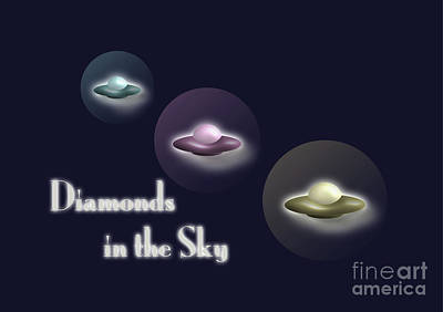 Diamonds In The Sky Poster by Beverley Brown