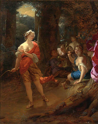 Diana And Her Nymphs In A Clearing Poster