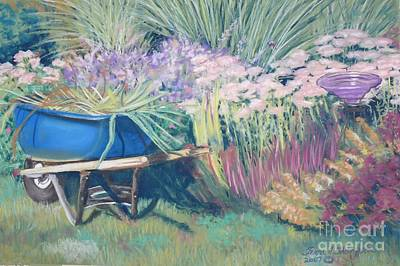Poster featuring the pastel Diana's Garden by Terri Thompson