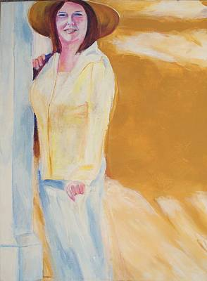Poster featuring the painting Diane by Eric  Schiabor