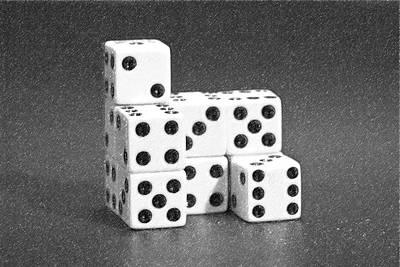 Dice Cubes I Poster by Tom Mc Nemar