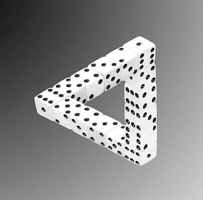 Poster featuring the photograph Dice Illusion by Shane Bechler