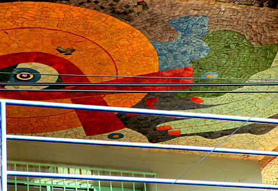 Diego Rivera Mural 10 Poster by Randall Weidner
