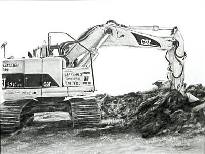 Poster featuring the drawing Dig by Meagan  Visser