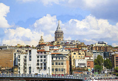 Digital Manipulation Of Galata Tower ,istanbul,turkey. Poster