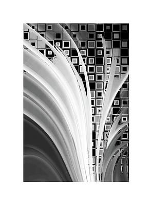 Digital Revolution Bw Poster by Steve K