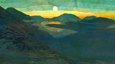 Digitale Kunst Landschaft  Poster