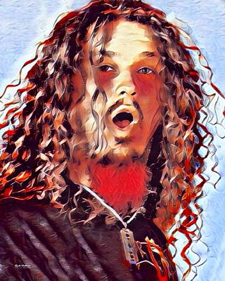 Dimebag Darrell Painting Poster by Scott Wallace