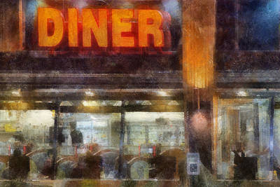Poster featuring the digital art Diner by Francesa Miller