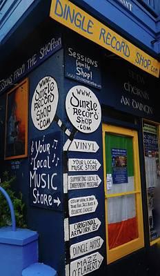 Dingle Record Shop Poster by Melinda Saminski