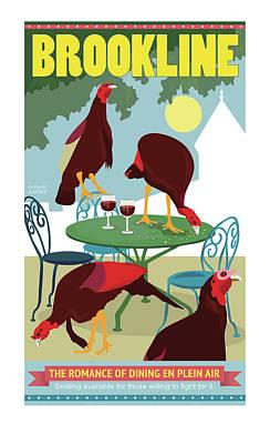 Dining En Plein Air Poster