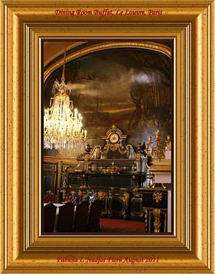 Dining Room Buffet Poster by Fabiola L Nadjar Fiore