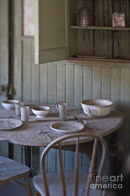 Dining Table In Abandoned Home Poster by Eddy Joaquim